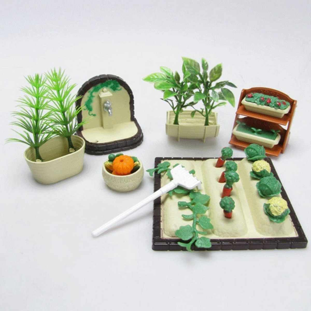 DIY Handmade Miniature Gardening Vegetables Sets For Dollhouse Furniture Outdoor Accessory Toys Set