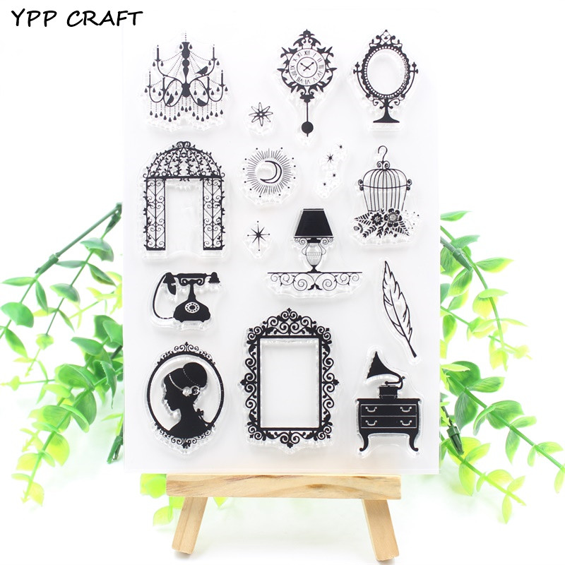 YPP CRAFT Vintage Transparent Clear Silicone Stamps for DIY Scrapbooking/Card Making/Kids Fun Decoration Supply