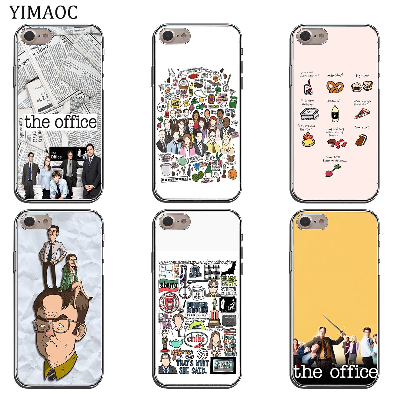 the best attitude 0ad4f 96411 The Office Funny Humor Soft Silicone Cover Apple Iphone XS Max XR X 6 6S 7  8 Plus 5 5S SE 10 TPU Phone Cases