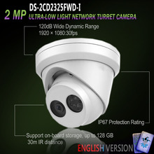 Hikvision New English Version DS-2CD2325FWD-I IP 2MP Ultra-Low Light Network Turret Camera Outdoor HD H265+(China)