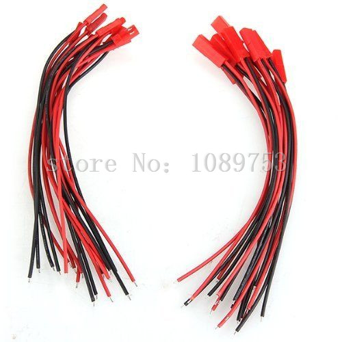 100 Pair 18cm JST Male and Female Cable Connector Plug For RC BEC LiPo battery 10 pairs 100mm 150mm 2pins 20awg jst connector plug cable male and female for rc plane battery