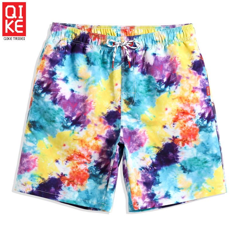 Men's Swimming trunks Color New   Board     shorts   swimwear quick dry surfing plus size printed beach   shorts   liner joggers mesh
