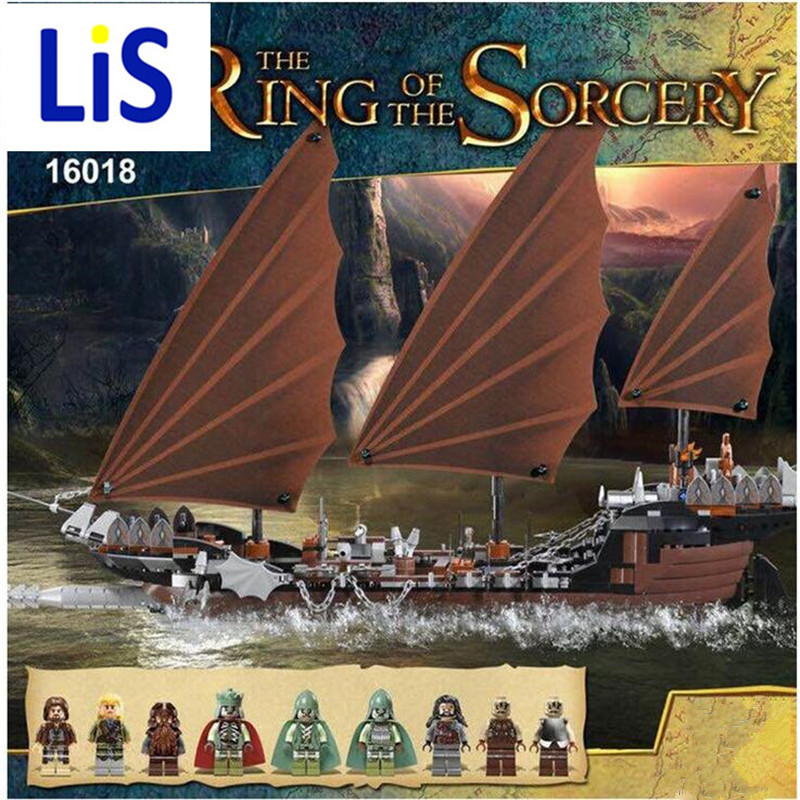 Lis New Lepin 16018 Genuine The lord of rings Series The Ghost Pirate Ship Set Building Block Brick Toys 79008 lepin movie series ghost pirate ship 16018 756pcs building block for children toys 79008 compatible legoe pirate ship