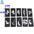 OPHIR 10 Pcs/lot Airbrush Sheets Stencils(Animal series) for Body Painting Glitter Temporary Tattoo Kit 10.1cm x 5.1cm_TA033C
