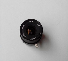 2014 Special Offer Hot Sale 10 Pieces/lot F1.2 6mm 1/3″ Cs Mount Fixed Ir Cctv Camera Lens