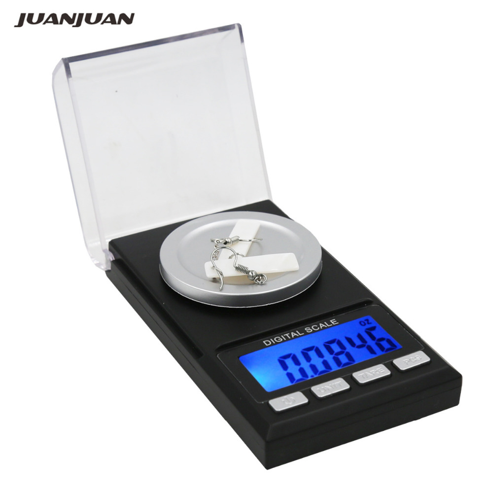 Digital High Precision Jewelry Scale 50g 0.001g LCD Display Electronic Pocket Weight Diomand Balance scales 40% off
