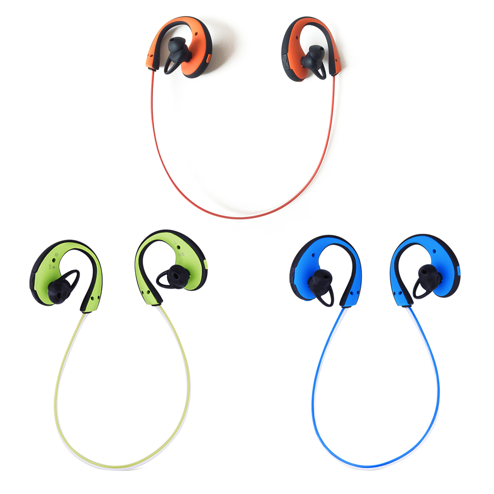 1PC Glowing LED Light Bluetooth Earphones Handsfree Sports Headsets Wireless Stereo Earbuds with Mic