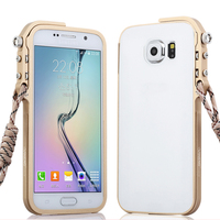For Samsung Galaxy Note 3 Tough Metal Aluminum Clear Acrylic Back Case Ultrathin Transparent Back Plate