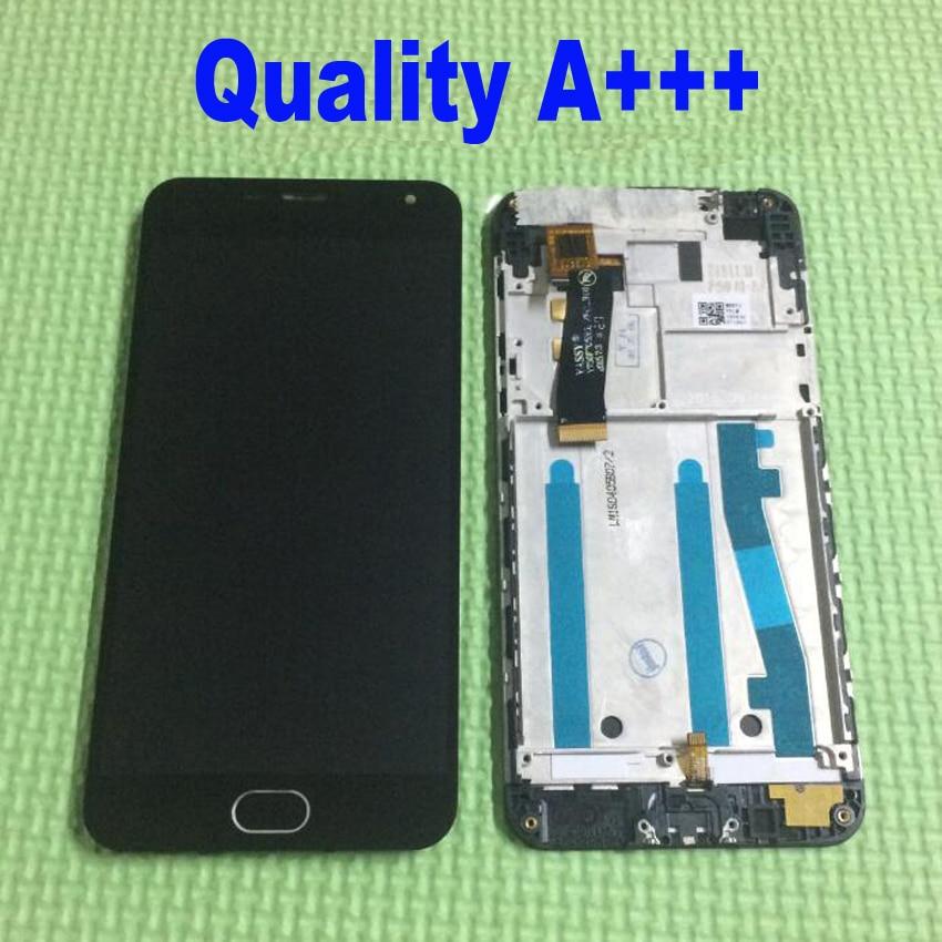 imágenes para Mejor Pantalla LCD de Trabajo Inferior de la Pantalla Táctil Del Digitizador Assembly + Home + Marco Para m2 Meizu Meilan 2 para meizu m2 mini Reemplazo
