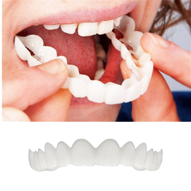1 PC Teeth Top Cosmetic Veneer Retain Smile Comfort Fit Flex Cosmetic Teeth Denture Teeth Top Cosmetic Veneer