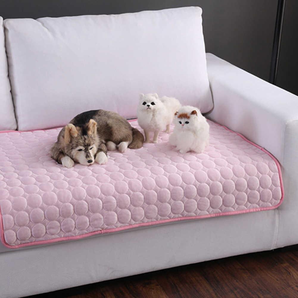 Summer Pet Dog Cooling Mats Cats Dog Bed Sofa Pet Bed for Dog Cats Heat Relief Cooling Mat Floor Mat Dog Supplies Pet Product