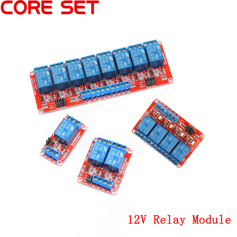 12V 1 2 4 8 Channel Relay Module Board Shield with Optocoupler Road High and Low Level Trigger Relay for Arduino