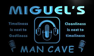 x0150-tm Miguels Recording Studio Man Cave Custom Personalized Name Neon Sign Wholesale Dropshipping On/Off Switch 7 Colors DHL