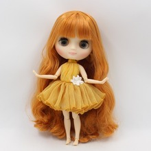 ICY Middie Blythe Doll Matte Face Ginger Hair Jointed Body 20cm