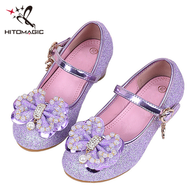 HITOMAGIC Girls Shoes Kids Leather Autumn Princess For Wedding Dance  Children s High Heel Shoes For Girl 67fddc7f1a78