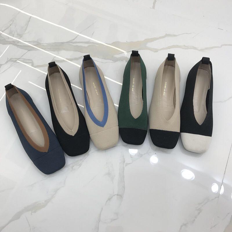 Mélangées Plat 3 8 Confortable Ballet Femme 4 5 2 Style Chaussures Nouveau style Voyage Dames Conduite Tricoté Femmes Couleurs style 6 1 Mocassins style Bout style Carré 7 8 style style style Espadrilles xwnB0Oqzn