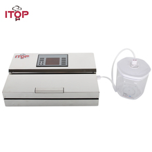 лучшая цена ITOP Vacuum Airtight Box Food Storage Box For Vacuum Sealer 700ml/1400ml/2000ml Sealer Box Keep the Food Fresh Kitchen Gargets