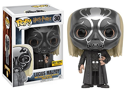 Hot Topic Exclusive Funko pop Harry Potter - Lucius Malfoy Death Eater Mask Vinyl Figure Collectible Model Toy with Original Box фильм кадеты topic index