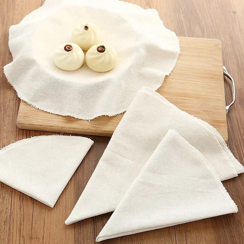 Хлопковый пароварка, Круглый хлопковый марлевый ящик, паровой коврик, фаршированные булочки, пароварка для хлеба на пару, кухонная пароварка