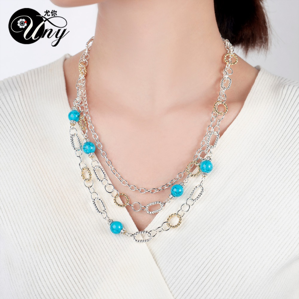 UNY designer Necklaces Fashion Inspired Rhinestone Classic Necklace ...
