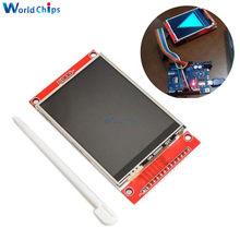 3.2 polegada 320*240 TFT Módulo LCD Screen Display com Touch Panel Driver IC ILI9341 240(RGB)* 320 Interface de SPI (9 IO) para MCU