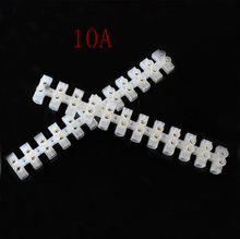 Hot sale screw Terminal Barrier Connector 10pcs Electrical Wire Connection 12Position Barrier Terminal Strip Block 10A