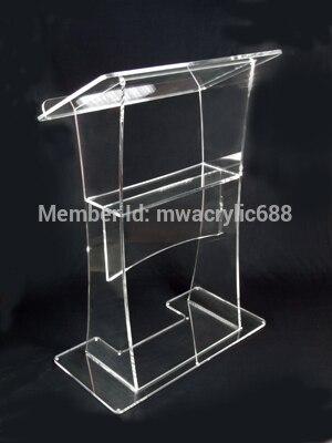 Кафедрой мебели Бесплатная доставка стабильный Красивая фирма современный Дизайн дешевые прозрачный Акриловый Трибуна Акриловые Кафедро