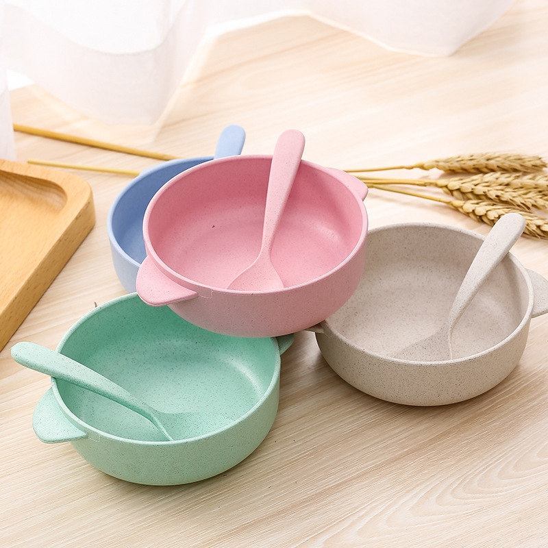 Environmental Noodles Bowl Dessert Can Hold Wheat Rice Children's Soup Household Bowl Chopsticks Cutlery image