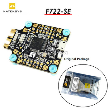 New Arrival Matek System F722-SE F7 Dual Gryo Flight Controller AIO OSD BEC Current Sensor Black For RC Drone Part Accs