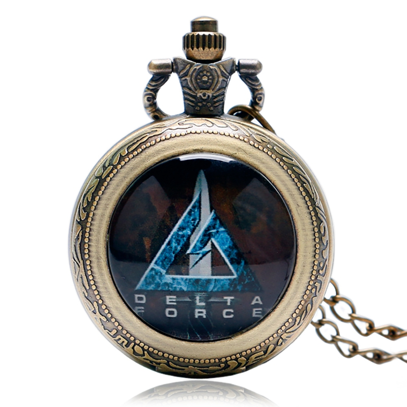 Steampunk Green Beret United States Skull Army Men Quartz Pocket Watches Special Vintage Fob Pocket Watch With Chains For Gifts
