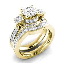 2pcs/lot Engagement Ring alloy Steel Wedding Ring