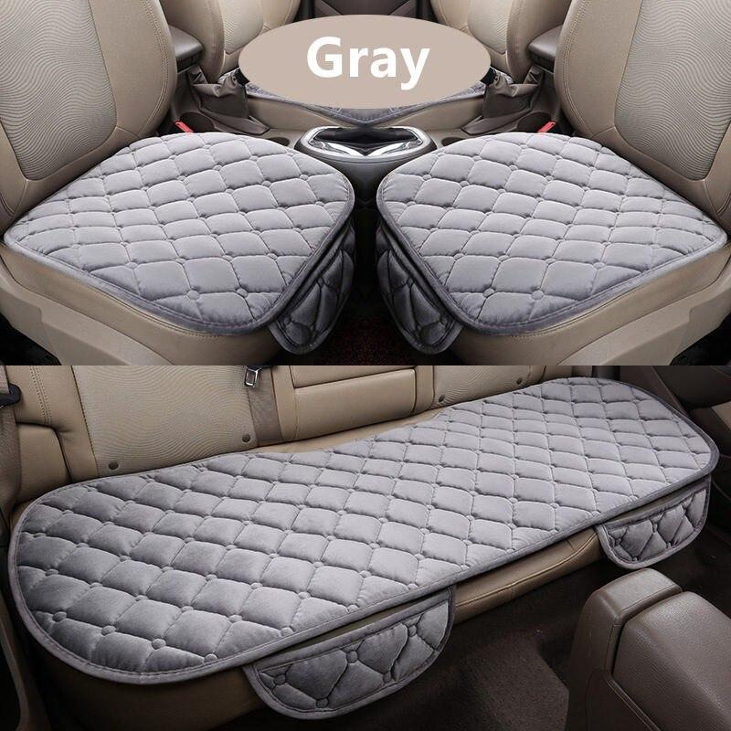 3 шт./компл. Универсальный удобные квадратные Мягкий хлопок подушки сиденья автомобиля спереди назад чехлы авто кресло мат автомобильный по...