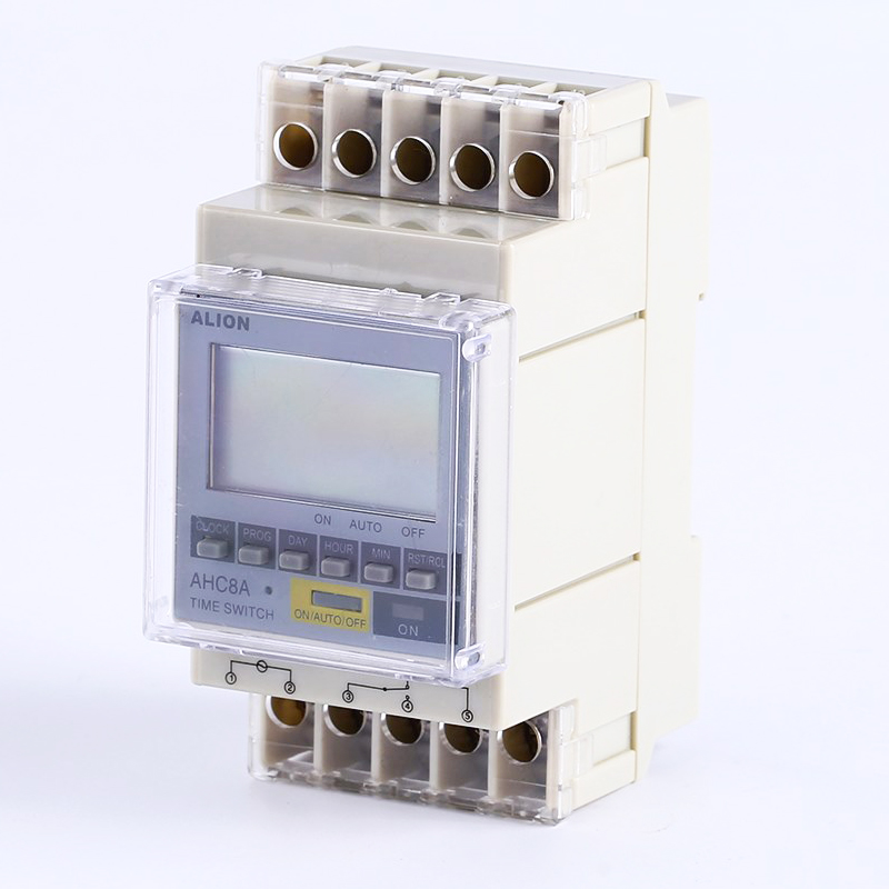 AHC8A Front panel Din rail timer relay time switches16A AC250V free shipping 35mm din rail panel mount ac 110v 50 60hz lcd display time relay dh48s s 1z