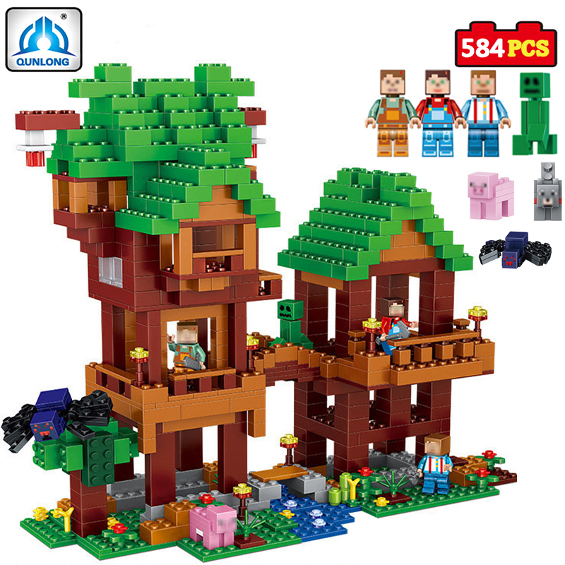 qunlong Village Building Blocks Compatible Lepin Boy Girl Toys Compatible Legoings Minecraft City Bricks For Children Friends qunlong toys compatible legos minecraft city model building blocks diy my world action figures bricks educational boy girl toy