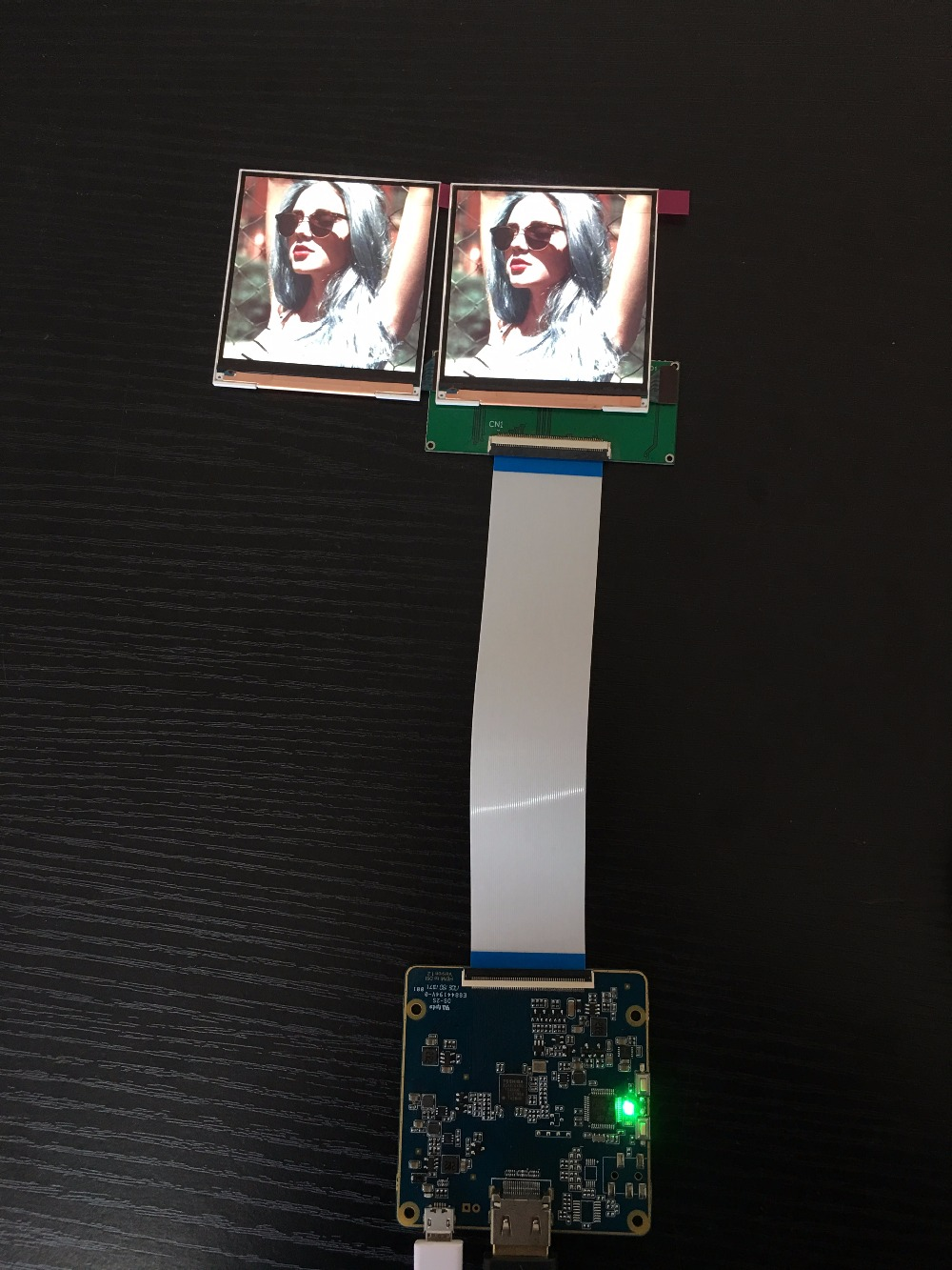 3.1 inch square LCD wide viewing angle 720X720 high resolution MIPI display with control board