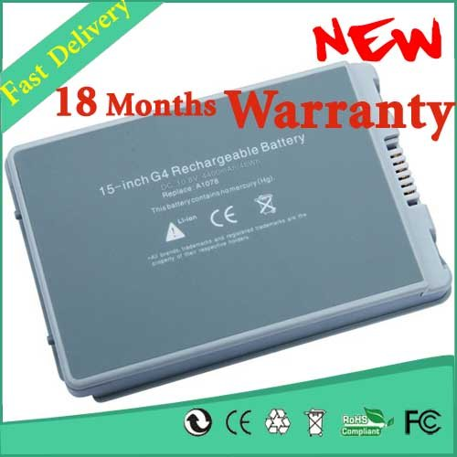 Laptop Battery A1045 A1078 A1148 E68043 M9325 M9756 M9325G/A M9325J/A M9756G/A M9756J/A For Apple PowerBook G4 15 A1106 the powerbook