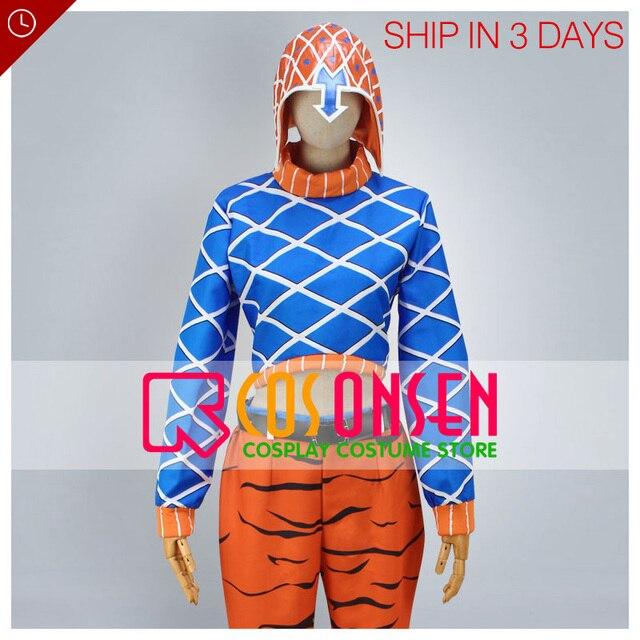 In StockJoJos Bizarre Adventure Guido Mista Fast Shipping COSPLAYONSEN Cosplay Costume Female L