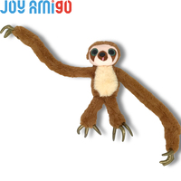 Naughty Belt The Sloth With Super Long Arms And Golden 3 Toed Claws-Soft Plush Stuffed Animal Softie Plushies Wrap Handing Toy