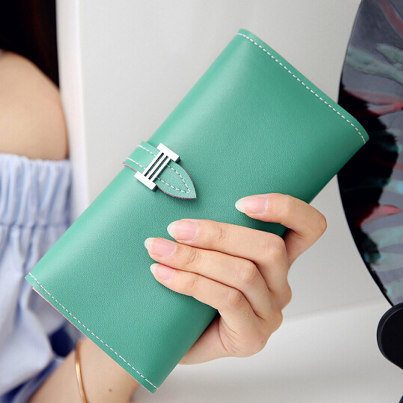 The new large-capacity PU pumping with women wallet fashion coin purses multi-card bit wallet card holder phone bag clutch