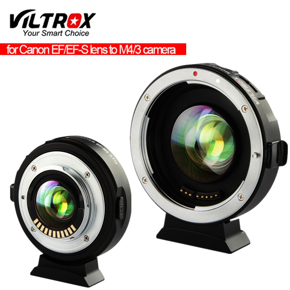Viltrox EF-M2 Focal Reducer Booster Adapter Auto-focus 0.71x for Canon EF mount lens to M43 camera GH5 GH4 GF7GK GX7 E-M5 II M10