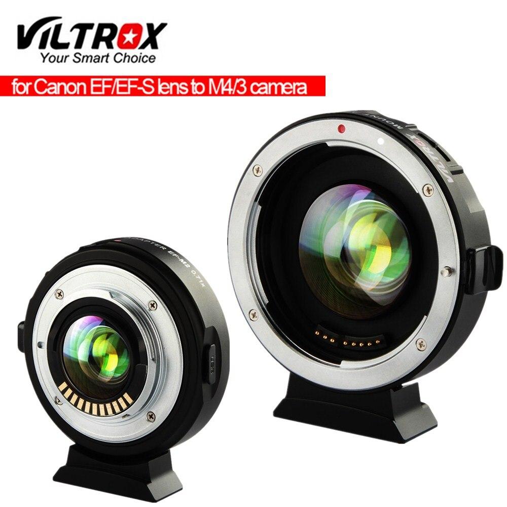 Viltrox EF-M2 adaptador de refuerzo reductor focal de enfoque automático 0.71x para Canon EF montaje lente a M43 Cámara GH5 GH4 GF7GK GX7 E-M5 II M10