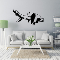 Free shipping The sleeping panda bedroom background decoration painting wall stickers Removable home decor mural