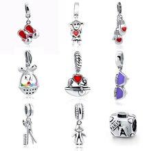 цена на Fit Authentic Pandora Bracelet Silver 925 Original Charms Pandora Crown Shape Charms Antique Beads Pendant Jewelry Women Gifts