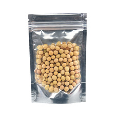 100pcs/lot 9*14cm Stand Up Clear Front Ziplock Mylar Plastic Bag Doypack Candy Grain Smell Proof Storage Package