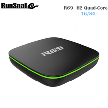5 шт./лот R69 Android 4.4 ТВ коробка DDRIII 1 ГБ + 8 ГБ Allwinner H2 четырехъядерный процессор (1.5 ГГц) Wi-Fi 802.11 B/G/N media player PK T6 2017