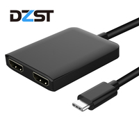 DZLST USB C To HDMI Adapter Type C 3 1 Male To Dual HDMI Female Converter