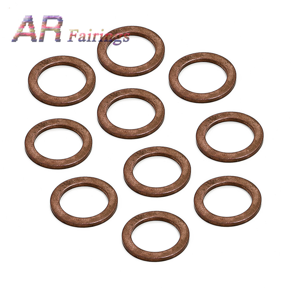 Oil Drain Plug Washers 2016 2017 For Mercedes BENZ C43 C450 C63 CLA45 GLC43 SL550 SL33 AMG Replace 007603-014106 image