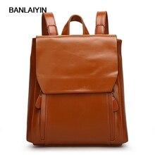Женщины рюкзак искусственная кожа дорожные сумки для девочек в винтажном стиле черная сумка коричневый
