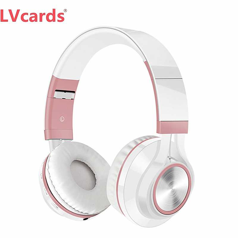 Lvcards Earphone Bluetooth Headphone Musik Headset untuk Ponsel & Tablet Sport Musik Headphone A1-01