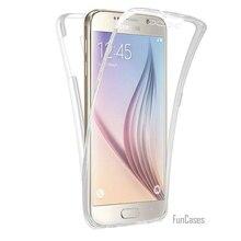 Чехол для всесторонней защиты мягкий прозрачный чехол из ТПУ для Galaxy S9 плюс J3 J5 J7 2016 A3 A5 A7 2017 G6 S7 край S6 S8